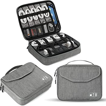 Jelly Comb Travel Cable Accessories Electronics Organizer (Gray)