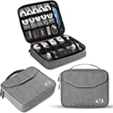 Electronics Organizer, Jelly Comb Electronic Accessories Double Layer Travel Cable Organizer Cord Storage Bag for Cables, iPa