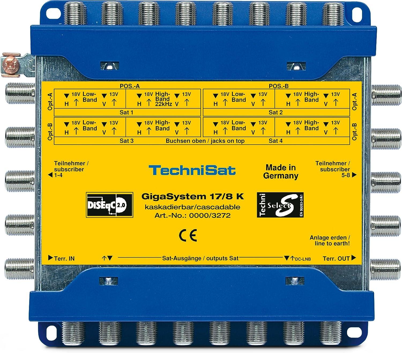 Technisat Gigasystem 17 8 K Multischalter Kaskade Für 8 Weitere Teilnehmer 4 Orbitpositionen Heimkino Tv Video