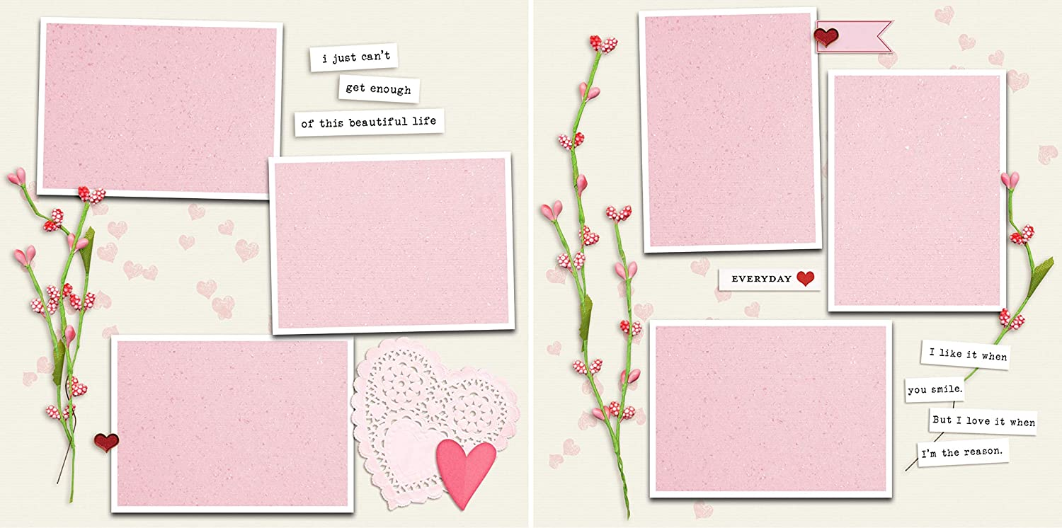 Premade Scrapbook Pages Valentine Beautiful Life EZ Layout 4656