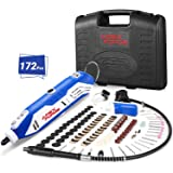 Rotary Tool Kit, APEXFORGE Tool with MultiPro Keyless Chuck and Flex Shaft, 172 Accessories, 4 Attachments & Carrying Case, C
