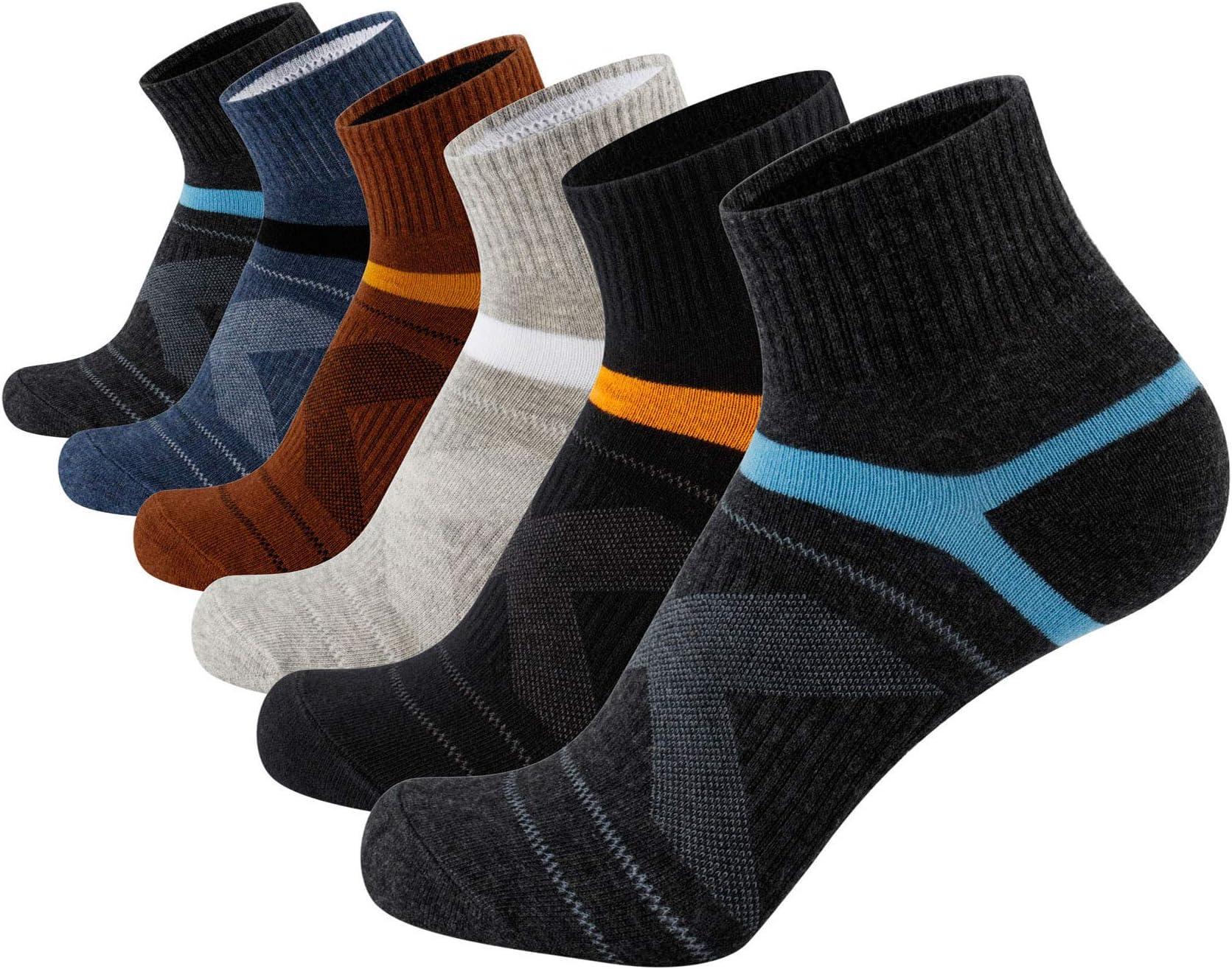 Womens /& Mens Low Cut Socks,DIBAOLONG 6-Pair Ankle No Show Athletic Short Cotton Socks