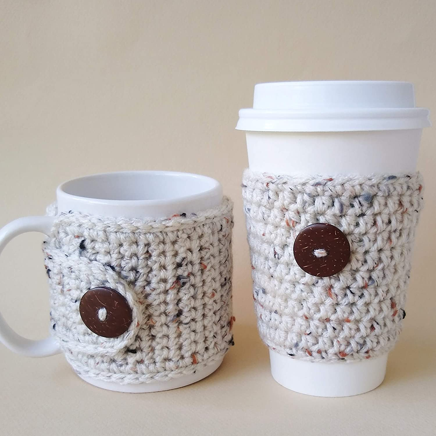 Coffee Cozy Set Oatmeal