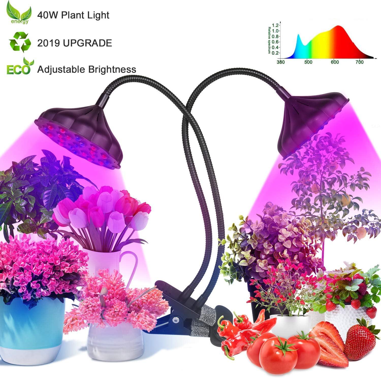 Grow Light for Indoor Plants,40W Led Grow Light Lotus Light,Plant Grow Light 42 Bulbs,Full Spectrum Grow Light Auto On Off 3 6 12H,Growing Light for Veg Flower Seedling Growing Blooming Fruiting B