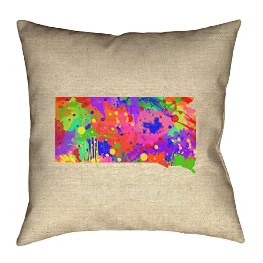 ArtVerse Katelyn Smith 26 x 26 Cotton Twill Double Sided Print with Concealed Zipper /& Insert Texas Canvas Pillow
