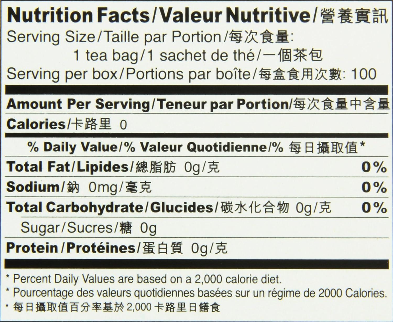 Prince of Peace Oolong Tea - 100 Tea Bags net wt. 6.35oz (180g) SYNCHKG002459