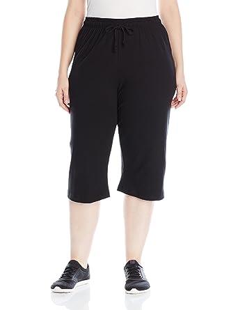 1b4bc42110d Amazon.com  Champion Women s Plus-Size Jersey Capri  Clothing