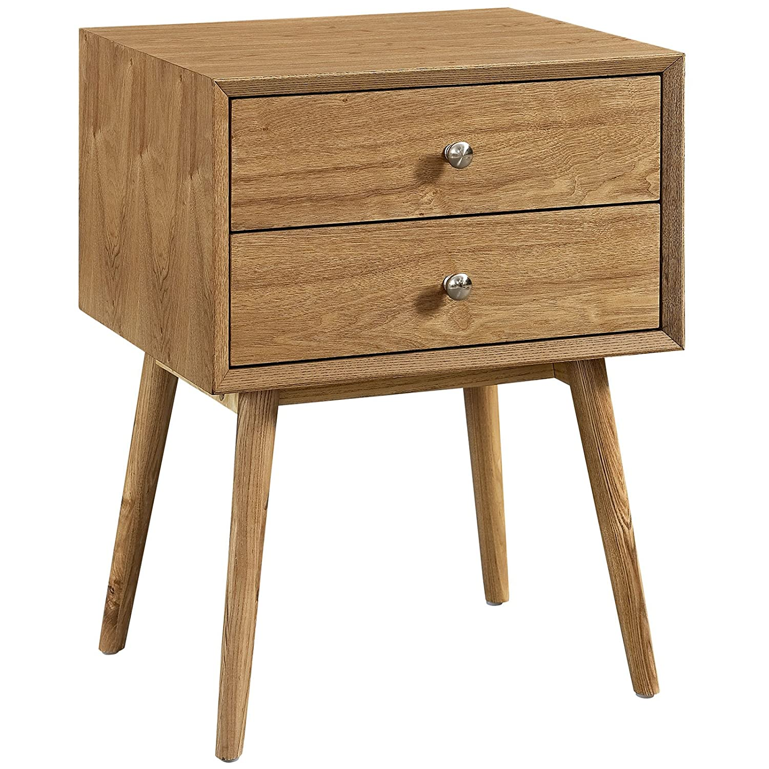 Modern night stand Mid Century Modern Modway Dispatch Mid Century Modern Nightstand In Natural Natural End Table For Bedroom Lamps Bed Stand Available In Black White Natural Walnut Amazoncom Amazoncom Modway Dispatch Mid Century Modern Nightstand In Natural