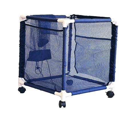 Gentil Pool Storage Bin   Standard Pool Accessories Organizer With Nylon Mesh  Basket For Swimming Pool Decks