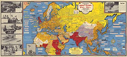 Amazon.com: Dated Events Map of World War II Victory, 1945 ...