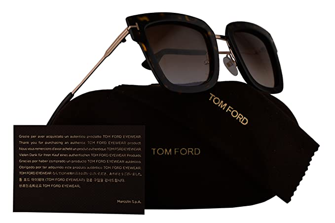 5f70b9d382 Image Unavailable. Image not available for. Colour  Tom Ford FT0573 Lara-02  Sunglasses Dark Havana w Brown ...