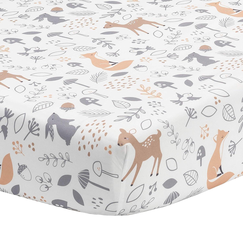 Bedtime Originals Deer Park Fitted Crib Sheet, Multicolor