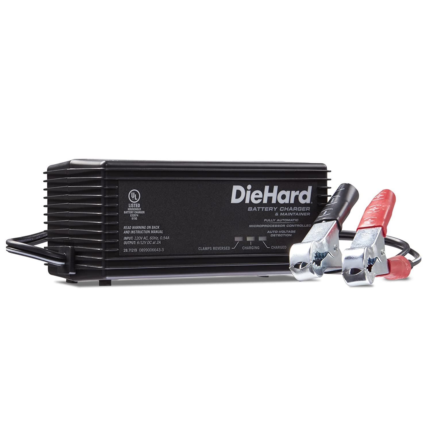 Amazon.com: DieHard 71219 Shelf Smart Battery Charger & Maintainer 6/12  Volt 2 Amp: Automotive