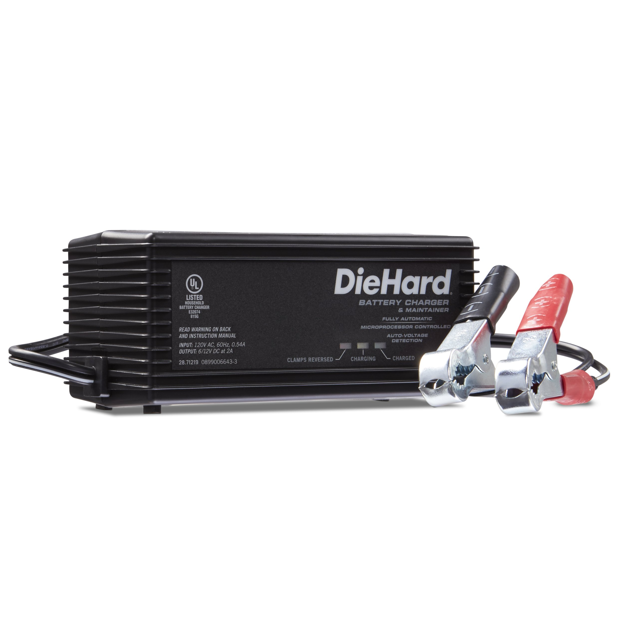 DieHard 71219 Shelf Smart Battery Charger & Maintainer (6/12 Volt 2 Amp)