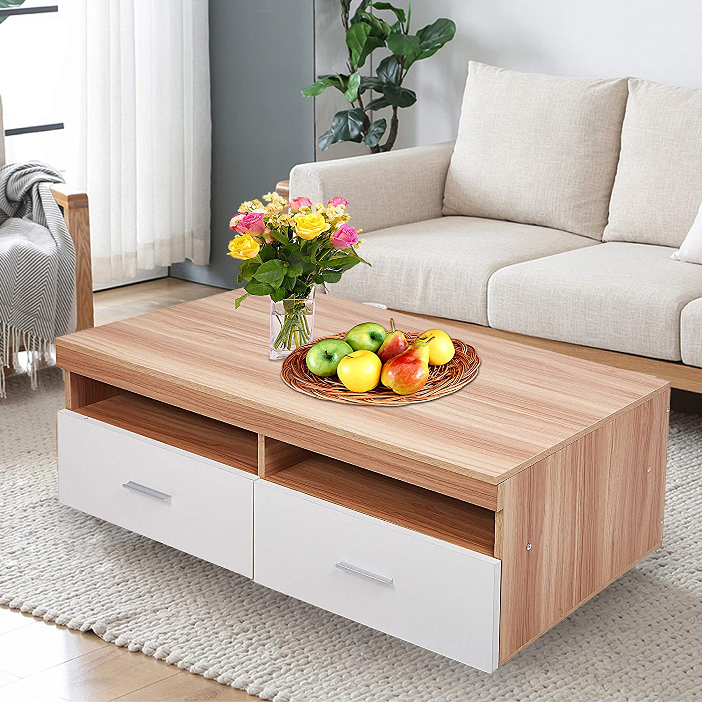 - Amazon.com: Dporticus Simple Design Wood Coffee Table TV Cabinet
