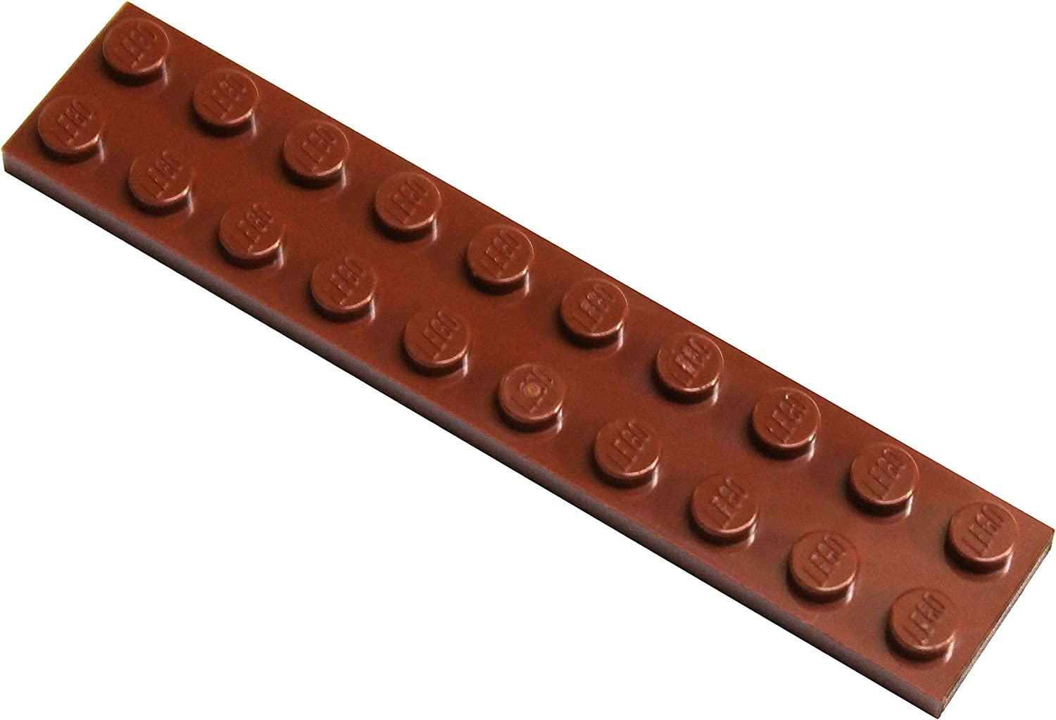 LEGO Parts and Pieces: Reddish Brown 2x10 Plate x20