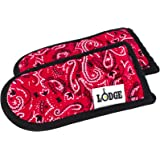 Lodge HHBAN41 Hot Handle Holders, Bandana Design, Set of 2,Red/Black