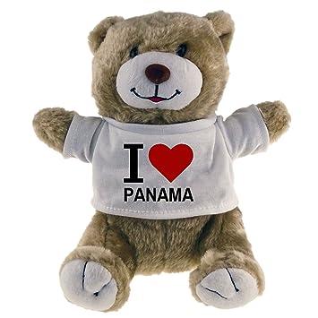Diseño de oso de peluche Classic I Love Panama Beige: Amazon.es: Deportes y aire libre