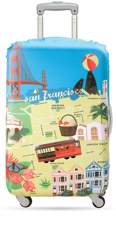 LOQI Luggage Cover, New York Print, Checked, Medium LM.UR.NY