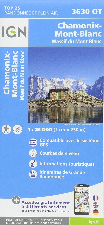 IGN Chamonix/Massif du Mont-Blanc - Carte topographique