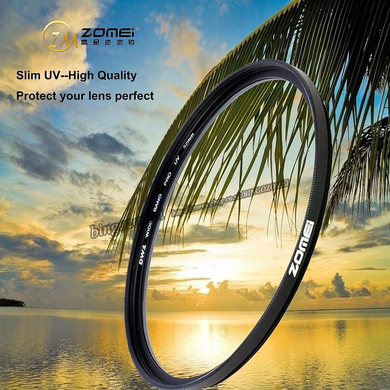 ZOMEI Ultra Mince 72mm UV Filtre Ultraviolet Objectif Protector// Filtres de lentille pour Nikon Canon Sony Cam/éra