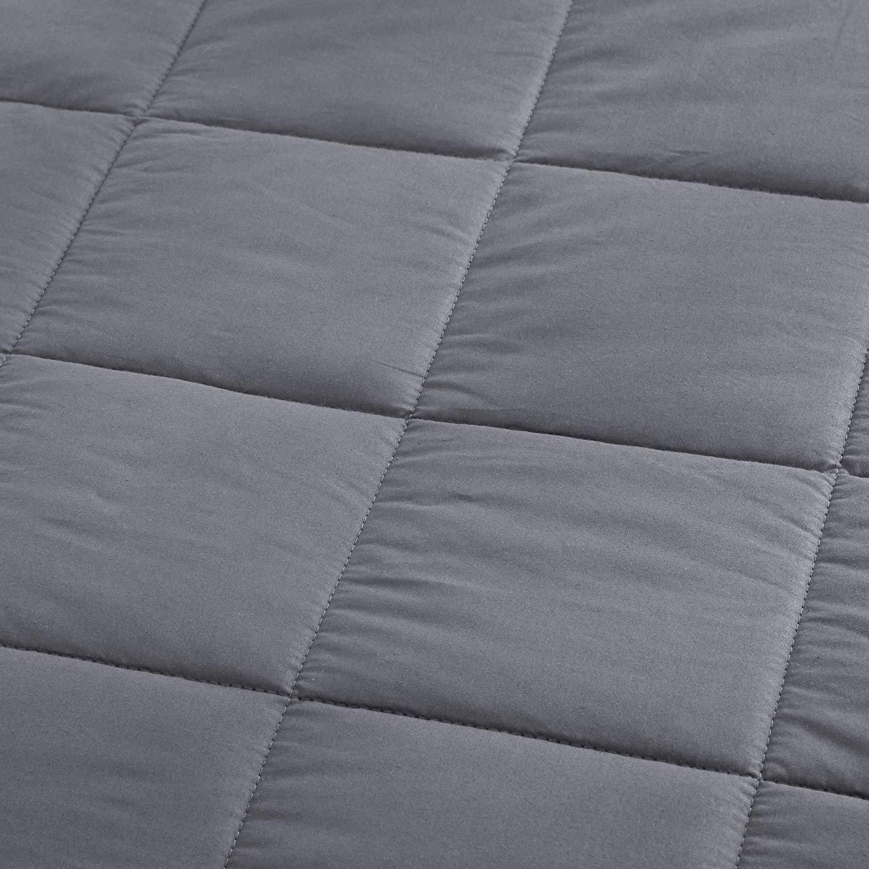 Manta de peso 150 x 200 cm gris oscuro 9 kg Dreamhood