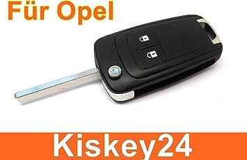 Kis 2tasten Ersatz Klappschlüssel Gehäuse Für Opel Elektronik
