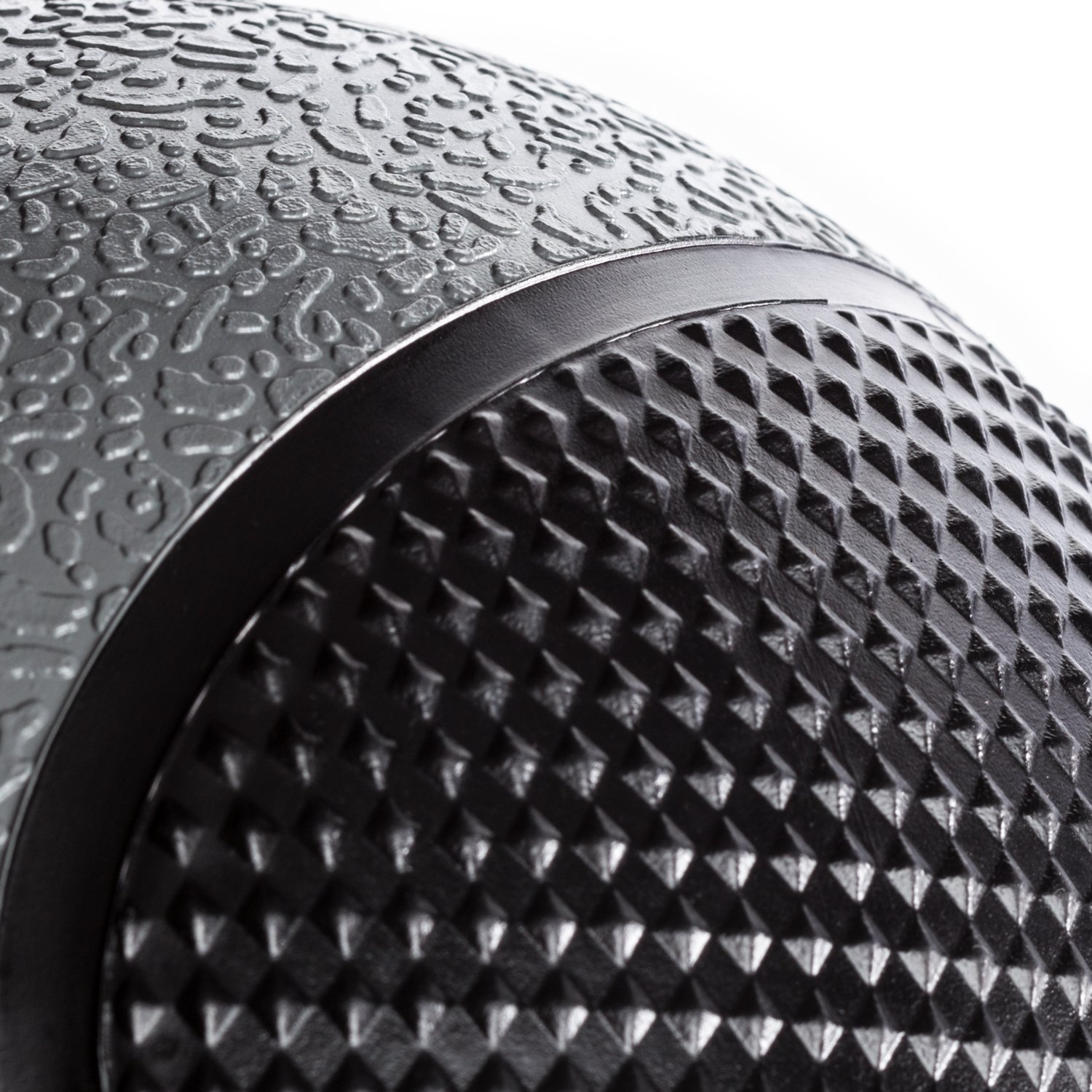 DYNAPRO Medicine Ball   Exercise Ball, Durable Rubber, Consistent Weight Distribution, Comfort Textured Grip for Strength Training (Gray- 12LB) by DYNAPRO (Image #3)