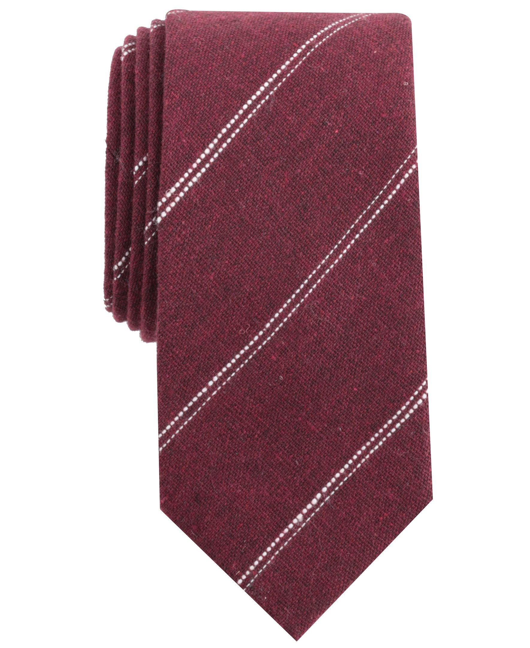 Original Penguin Men's Florida Stripe Tie, Red/Burgundy, One Size