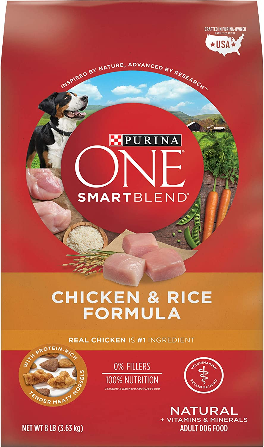 3. Purina ONE SmartBlend Chicken & Rice Adult Formula Dry Dog Food