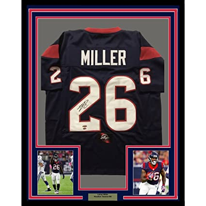 san francisco 9a728 f7d72 Framed Autographed/Signed Lamar Miller 33x42 Houston Texans ...