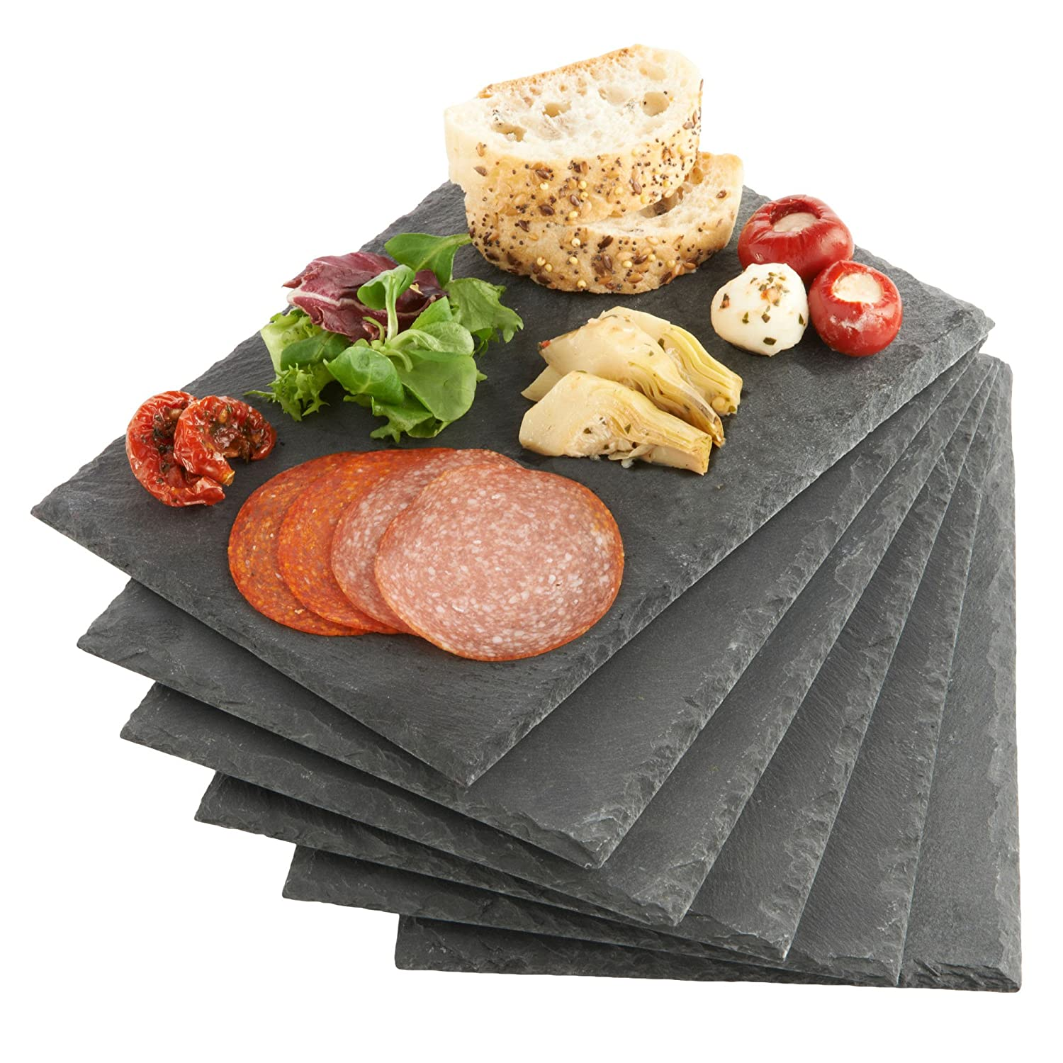 VonShef Set of 6 Mini Slate Cheese Boards for Dinner Parties and Entertaining Amazon.ca Home \u0026 Kitchen  sc 1 st  Amazon.ca & VonShef Set of 6 Mini Slate Cheese Boards for Dinner Parties and ...