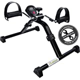 Medical Folding Pedal Exerciser with Electronic Display for Legs and Arms Workout (Fully Assembled Exercise Peddler, no tools required)