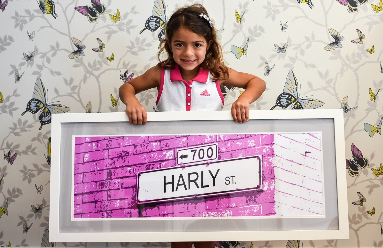 Personalized Brick Wall Street Sign Wall Art by deSIGNable Images