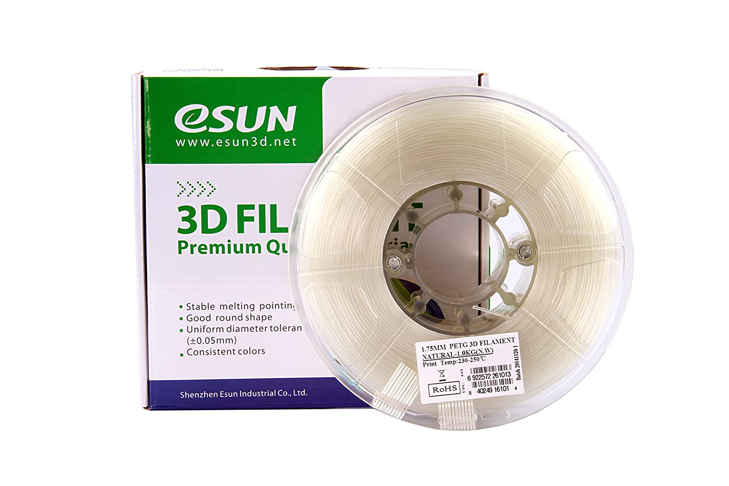 Color printing csun - Amazon Com Esun 3d 1 75mm Petg Natural Filament 1kg 2 2lb Petg 3d Printer Filament Semi Transparent 1 75mm Natural Industrial Scientific