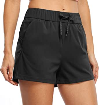 Willit Women's Yoga Lounge Shorts Hiking Active Running Sweat Shorts Comfy Casual Shorts with Pockets 2.5""
