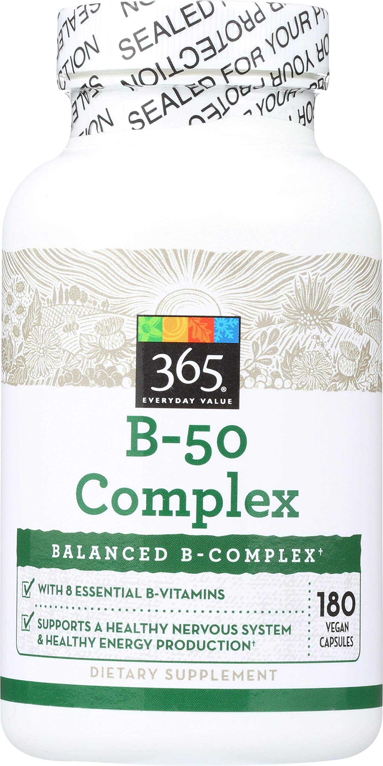 365 Everyday Value, B - 50 Complex, 180 ct