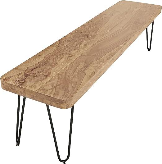 Wohnling Esszimmer Sitzbank Massiv Holz Akazie 120 X 45 X 40 Cm