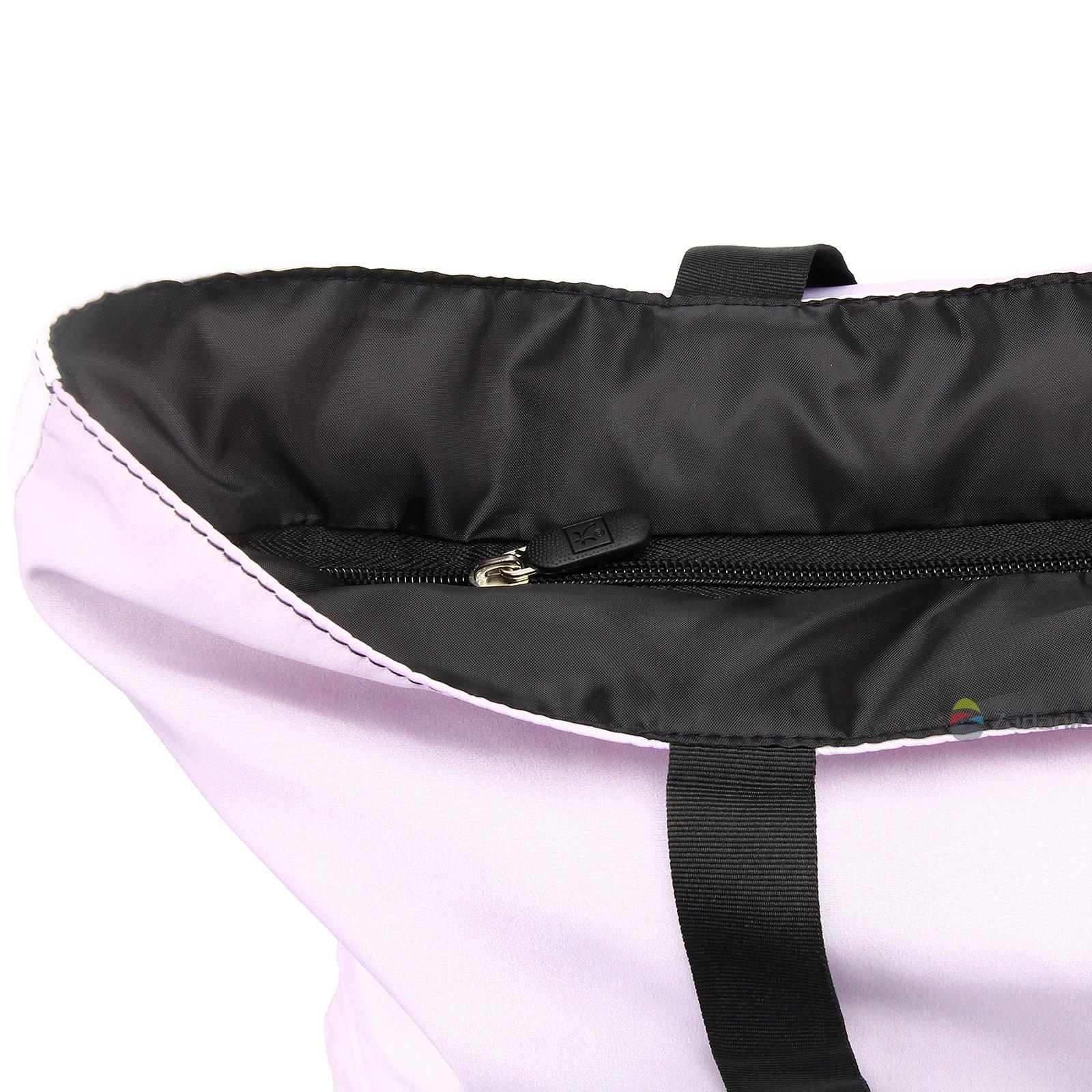 Newplenty Ladies Zippered Light Shoulder Shopping Tote Bag Handbag Beach Satchel (SB-6006) by newplenty (Image #7)