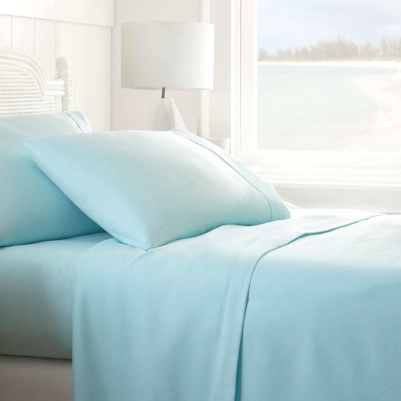 ienjoy Home 4 Piece Home Collection Premium Ultra Soft Bed Sheet Set, Queen, Aqua