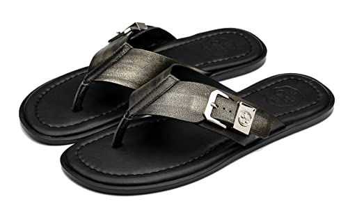43d64293134a Ocean Pacific OPP Men s Classic Fashion Casual Anti-skidding Flip-Flops  Slippers in Genuine