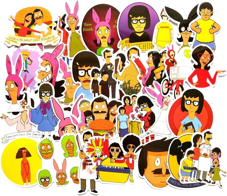 34 pcs Cartoon Stickers tv Show Creative DIY Stickers Funny Decorative Cartoon for Waterbottle Cartoon PC Luggage Computer Notebook Phone Home Wall Garden Window Snowboard