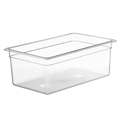 LIPAVI Sous Vide Container - Model C20 - 26 Quarts - 21 x 12.8 inch - Strong & Clear See-thought Polycarbonate - Matching L20 Rack and Tailored Lids for virtually every circulator sold separately.