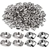 150 Pieces 2020 Series T Nuts T-Slot Nut Hammer Head Fastener Nickel-Plated Carbon Steel Sliding T Nuts for Aluminum Profile