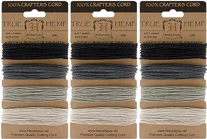 Aqua Hemptique HC20SOA Hemp Cord Card 20-Pound