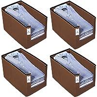 Kuber Industries 4 Piece Non Woven Shirt Stacker Wardrobe Organizer Set