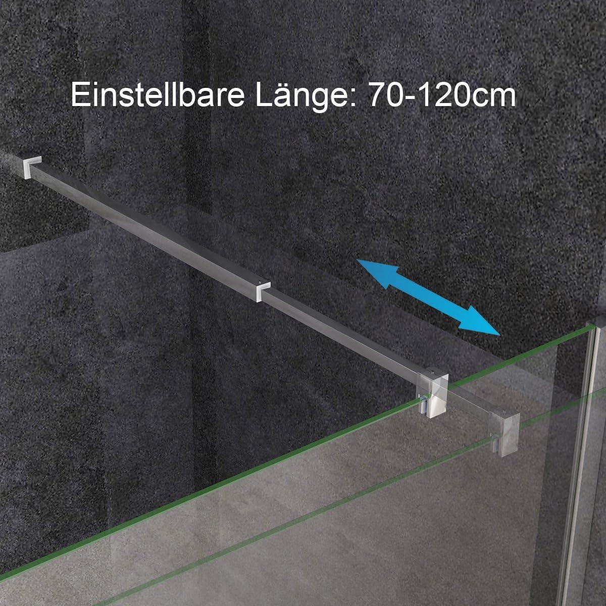 MIQU Walk in Dusche Duschwand Duschtrennwand Duschabtrennung 70 x 195 cm ESG NANO Glas SA70