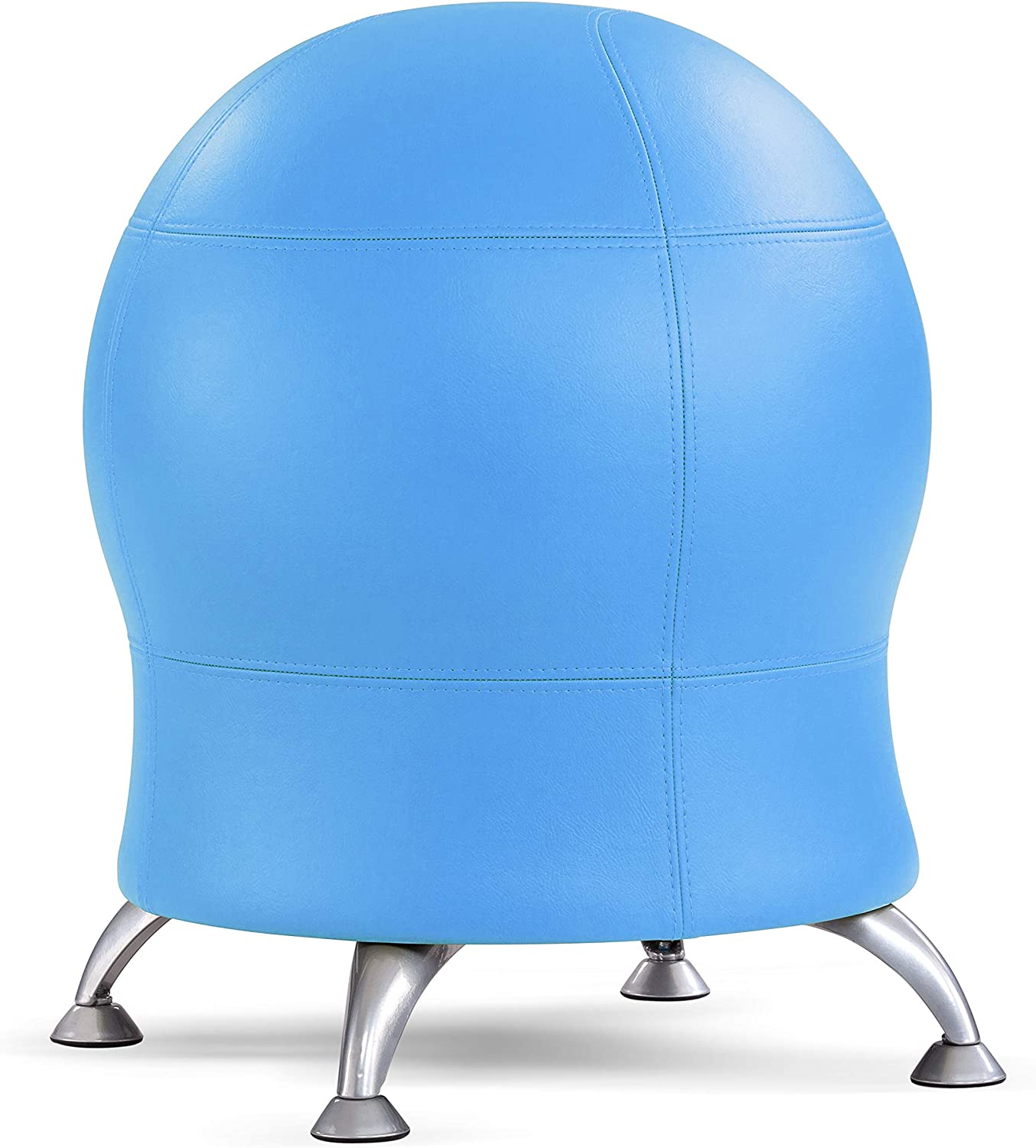 "Safco Products Zenergy Stability Exercise Ball Chair, 23"" H or 20"" H, Blue Vinyl"