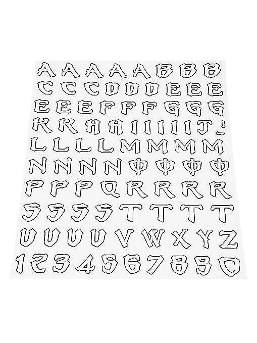 Quattroerre 1204 Kit Lettere Adesive Monster Amazonit Auto E Moto