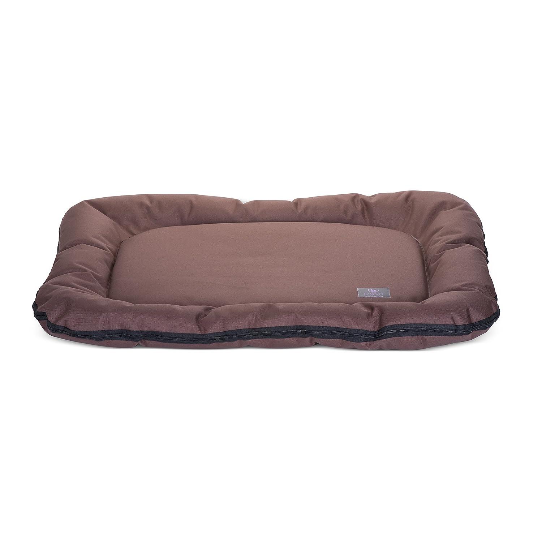 FONSO Premium Waterproof Dog Bolster Mat, 125 x 75 cm, Black